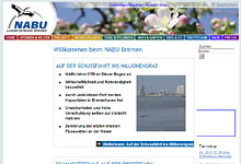 Homepage NABU Bremen - Foto: Screenshot