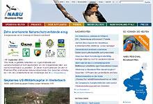 Hompeage des NABU Rheinland-Pfalz - Foto: Screenshot