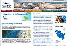 Hompeage des NABU Schleswig-Holstein - Foto: Screenshot